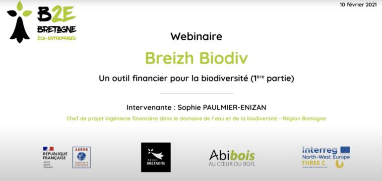 Webinaire Breizh Biodiv - B2E